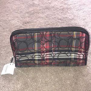 Plaid Coach Cosmetic Bag